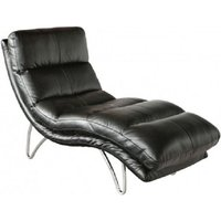 Product photograph showing Portofino Black Lounger Chaise