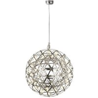 Product photograph showing Galaxy Led Metal Big Ball Pendant Light In Chrome