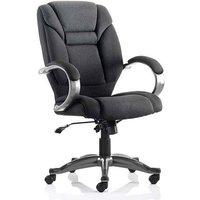 image-Galloway Fabric Executive Office Chair In Black With Arms