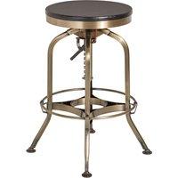 image-Gaton Metallic Bar Stool With Wooden Seat In Ash