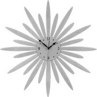 Product photograph showing Gatosta Sunburst Design Wall Clock In Silver