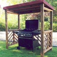 Gesta Dorchester BBQ Shelter In Burgundy