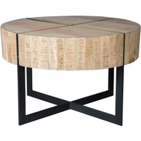 Product photograph showing Giedi Wooden Round Coffee Table In Oak