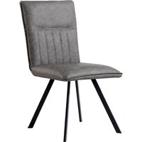 Product photograph showing Gilbert Faux Leather Dining Chair In Grey