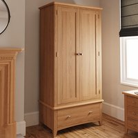 Product photograph showing Gilford Wooden 2 Doors 1 Drawer Wardrobe In Light Oak