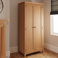 Product photograph showing Gilford Wooden 2 Doors Wardrobe In Light Oak