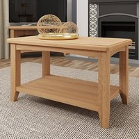 Product photograph showing Gilford Wooden Coffee Table In Light Oak