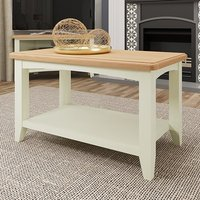 Product photograph showing Gilford Wooden Coffee Table In White