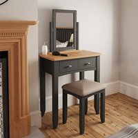 Gilford Wooden Dressing Table With Stool In Grey