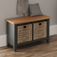 Gilford Wooden Hallway Seating Bench In Grey