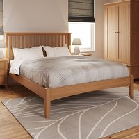 Product photograph showing Gilford Wooden King Size Bed In Light Oak