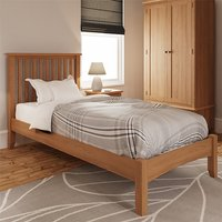 Product photograph showing Gilford Wooden Single Bed In Light Oak