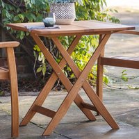 Girana Outdoor Square Folding Wooden Dining Table In Oak