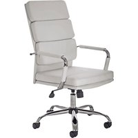 Product photograph showing Gleeson Bonded Leather Executive Chair In White With Wheels