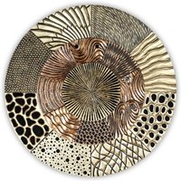 Product photograph showing Glorius Wall Object Wooden Wall Art In Gold