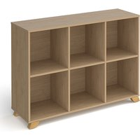 Grange Low Wooden Shelving Unit In Kendal Oak And 6 Shelves