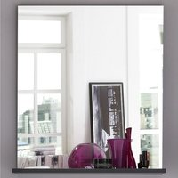 image-Greeba Wall Mirror In Grey With A Shelf