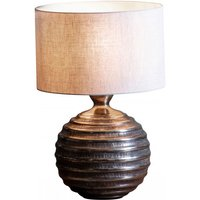 Product photograph showing Gusta Table Lamp In Bronze