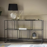 Hadston Metal Shelving Sideboard In Antique Gold