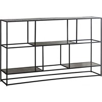 Hadston Sideboard In Antique Silver With Metal Frame