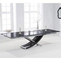 Haedus Glass Extending Dining Table In Black High Gloss