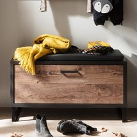 Product photograph showing Halifax Wooden Shoe Storage Bench In Barrique Oak