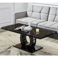 Product photograph showing Halo Black High Gloss Coffee Table In Milano Effect
