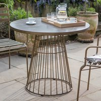 Product photograph showing Halstow Ceramic Tiles Top Bistro Table In Bronze