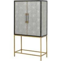 Product photograph showing Hamilton Wooden Storage Bar Cabinet In Shagreen