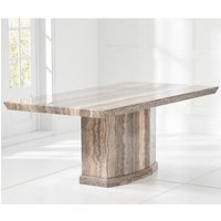 Hamlet Large High Gloss Marble Dining Table In Brown