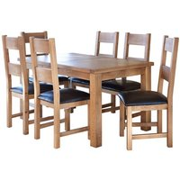Product photograph showing Hampshire Extending Dining Set With 6 Chairs