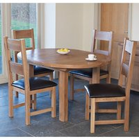 Hampshire Round Extending Dining Set With 4 Chairs