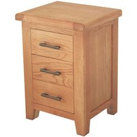 Hampshire Wooden Bedside Cabinet In Oak With 3 Drawers