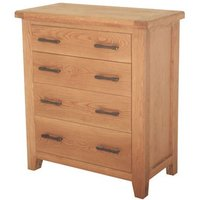 Hampshire Wooden Chest Of Drawers In Oak With 4 Drawers