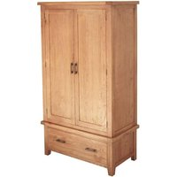 Hampshire Wooden Double Door Wardrobe In Oak With 1 Drawer