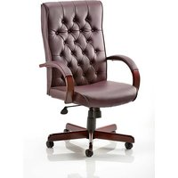 Product photograph showing Hanner Bonded Leather Chesterfield Executive Chair In Burgundy