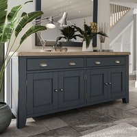 Hants Wooden 4 Doors And 2 Drawers Sideboard In Blue