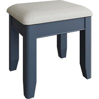 Product photograph showing Hants Wooden Dressing Stool In Blue