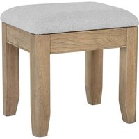 Product photograph showing Hants Wooden Dressing Stool In Smoked Oak