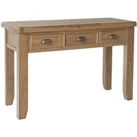 Hants Wooden Dressing Table With Mirrror In Smoked Oak