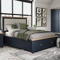 Hants Fabric Headboard Super King Size Bed In Blue