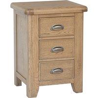 Hants Large Wooden 3 Drawers Bedside Cabinet In Smoked Oak