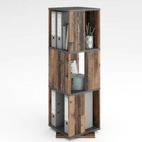 image-Harper Swivelling Storage Cabinet In Matera And Old Style Dark
