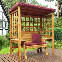 Hatso Wentworth 2 Seater Arbour In Burgundy