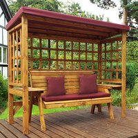 Hatso Wentworth 3 Seater Arbour In Burgundy
