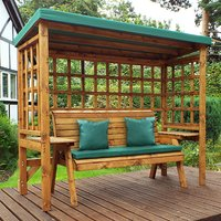 Hatso Wentworth 3 Seater Arbour In Green