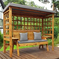 Hatso Wentworth 3 Seater Arbour In Grey