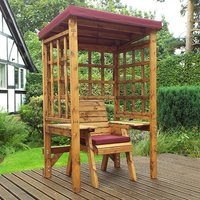 Hatso Wentworth Single Seater Arbour In Burgundy