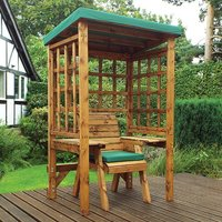 Hatso Wentworth Single Seater Arbour In Green