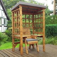Hatso Wentworth Single Seater Arbour In Grey